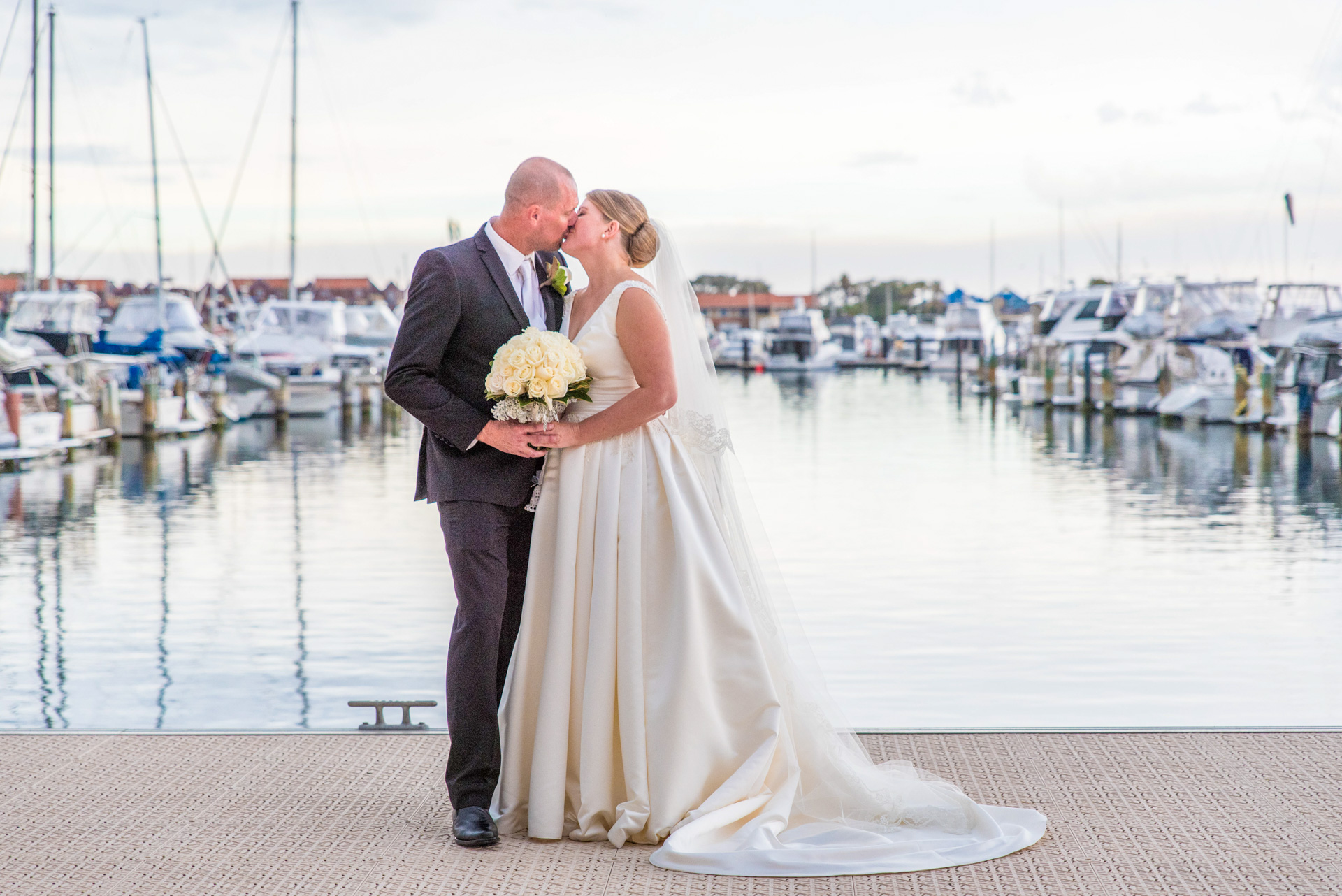 Wedding Couple at Hillarys Boat Harbour