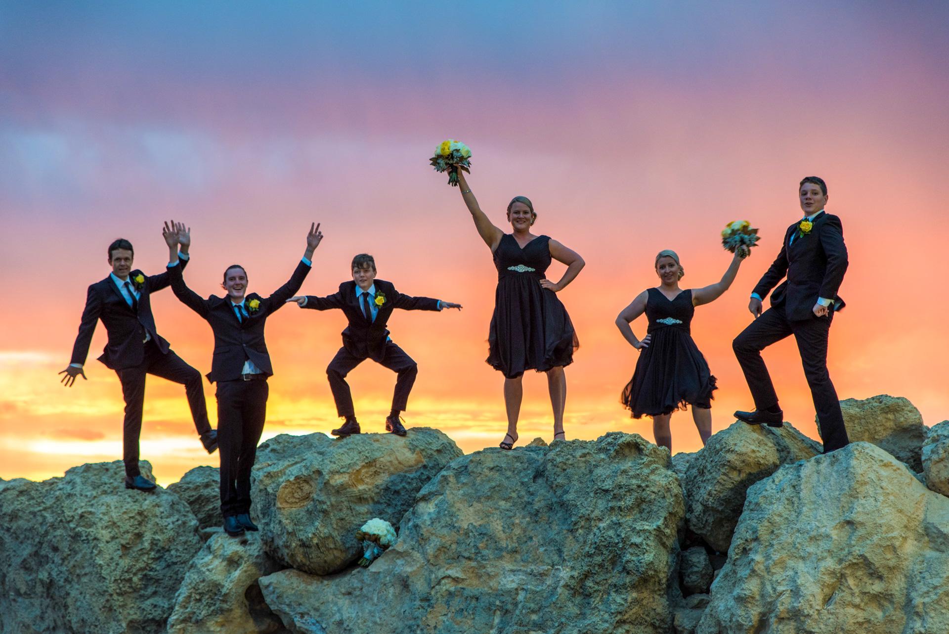 Fun Wedding Photo at Hillarys Reef